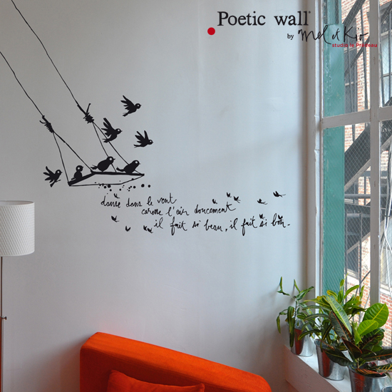 poetic wall by mel et kio nouveaut s 2013. Black Bedroom Furniture Sets. Home Design Ideas